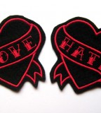 New Dolly Cool Love Hate Tattoo Patches
