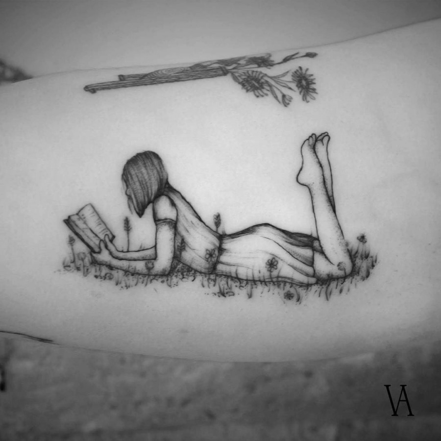lovely tattoo by violeta.arus
