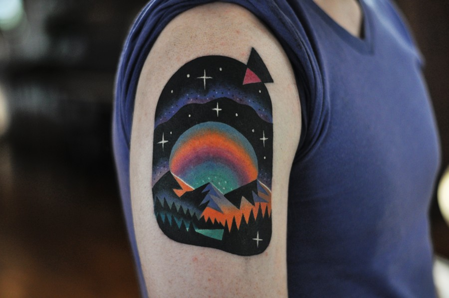 lsd landscape tattoo