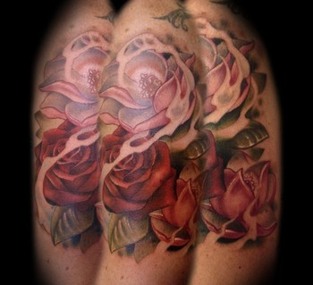 Kelly Doty At Ink Amp Dagger Tattoo Tattoos Flower Rose And