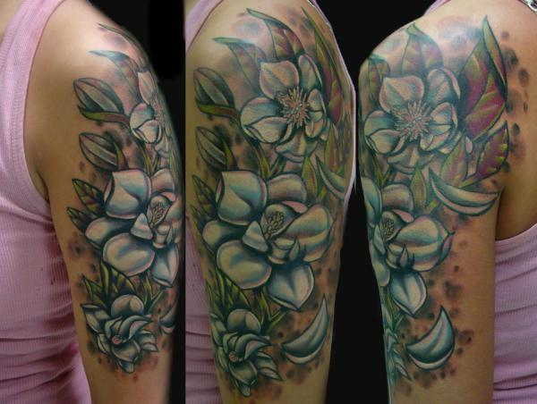 Magnolia Flower 14 Sleeve Photos From James Buster Tattoos By