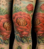 Off The Map Tattoo Tattoos Tim Senecal Camellia Flower