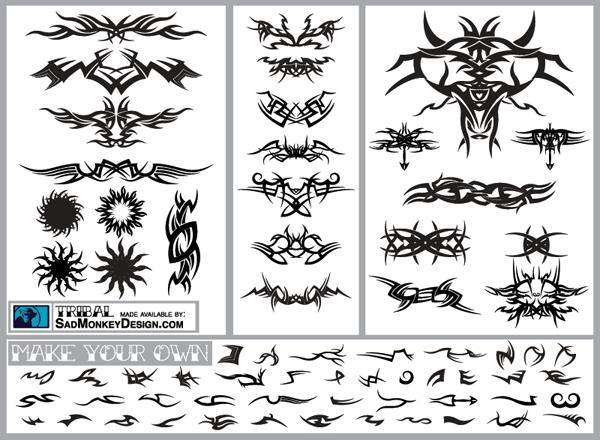 Vectors Tribal Graphics & Tribal Tattoo Designs Free