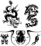 Awesome Tribal Dragon Tattoo Design Template - Tribal Tattoos