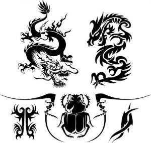 Awesome Tribal Dragon Tattoo Design Template – Tribal Tattoos