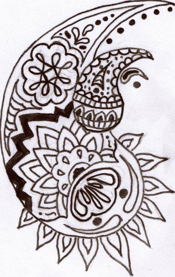 photograph about Printable Henna Designs known as Common Henna Tattoo Style Sketches for Women of all ages