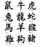 Chinese Shio Years Lettering Tattoo Design - Lettering Tattoos