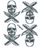 Skulls and Daggers Tattoo Design Sketches - Skull Tattoos