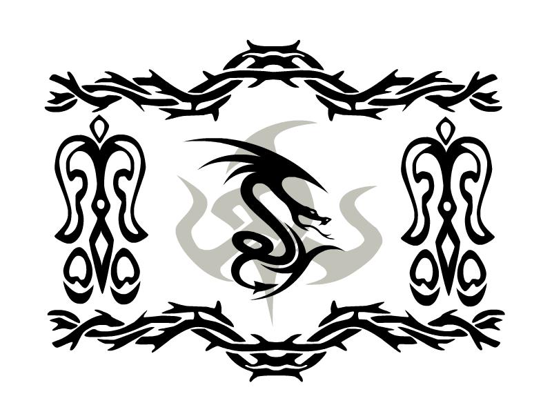 Tribal Flying Dragon Tattoo Designs Ideas by Ekeytattooscom