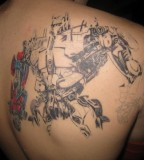 Optimus Prime Transformer Robot Back Tattoo - Tattoo Progress Pictures