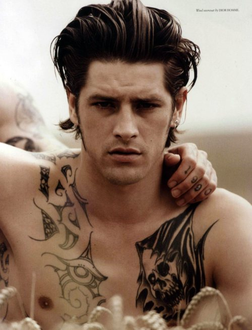 Male Models With Black Chest Tattoo
