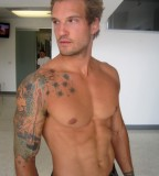 Male Model Parker Hurley Arm Tattoo