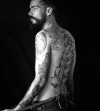 Josh Dane Male Model Bald Tattoo Ideas