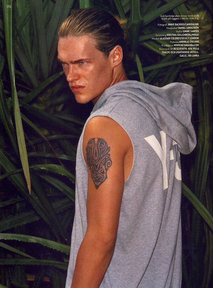 Male Models With Tattoo Photo Sesion