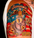 Full Color Tattoo Marine Corps