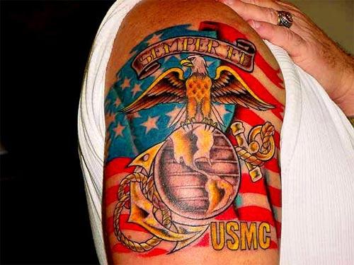 Full Color Tattoo Marine Corps