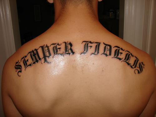 Lettering Tattoos Marine Corps Tattoos