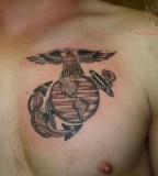 Simple Marine Tattoos Designs