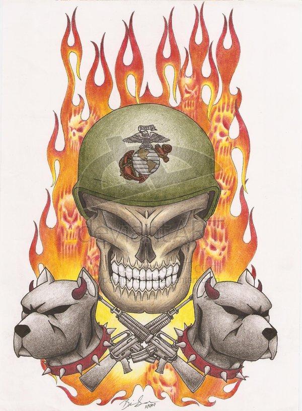 Military Navy Patriotic Army Guns Tattoos