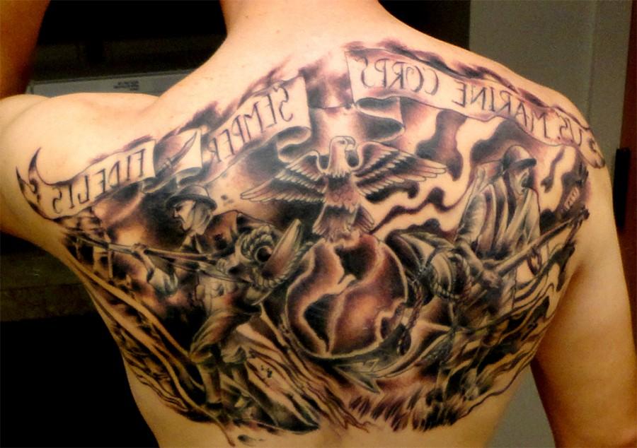 My Moto Tat Marine Corps Tattoos