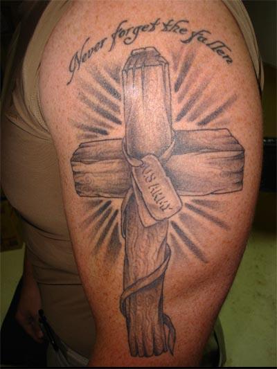 Cross Tattoo US Marine Corps Tattoo