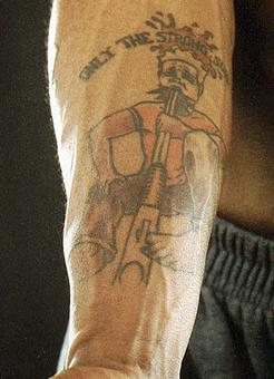 Marquis Daniels Joker Tattoo