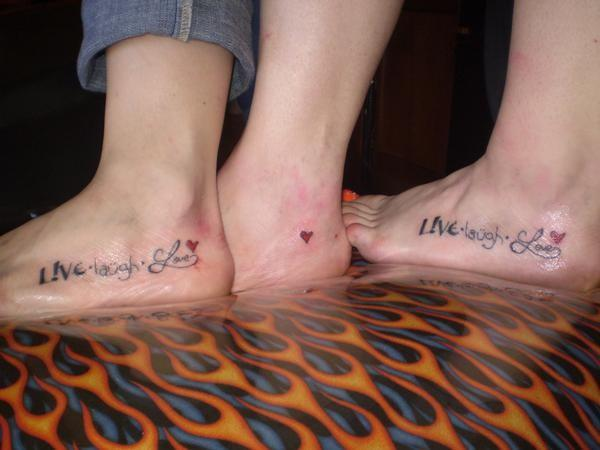 Two Sisters And Mom Matching Tattoos