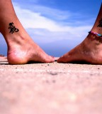 Best Matching Sister Ankle Tattoos