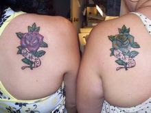 Matching Rose Beautiful Sisters Kanji Tattoo