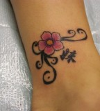 One Of Two Matching Sister Rose Tattoo