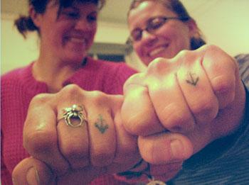 Anchor Tattoo Finger