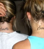 Wonderful Sister Love Neck Tattoo Quotes To Celebrate Sisterly Love