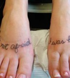 Amazing Tattoo Design For Couples on Foot
