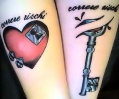 Amazing Heart and Its Key Tattoos for Couple