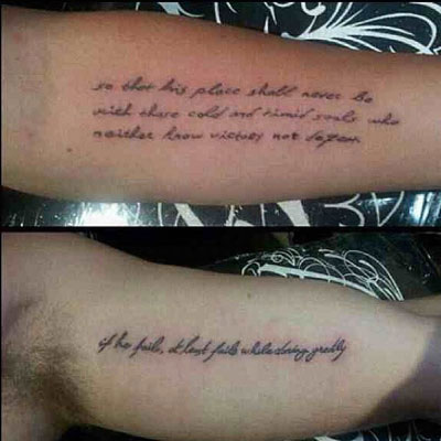 Liam Hemsworth Miley Cyrus Matching Tattoos