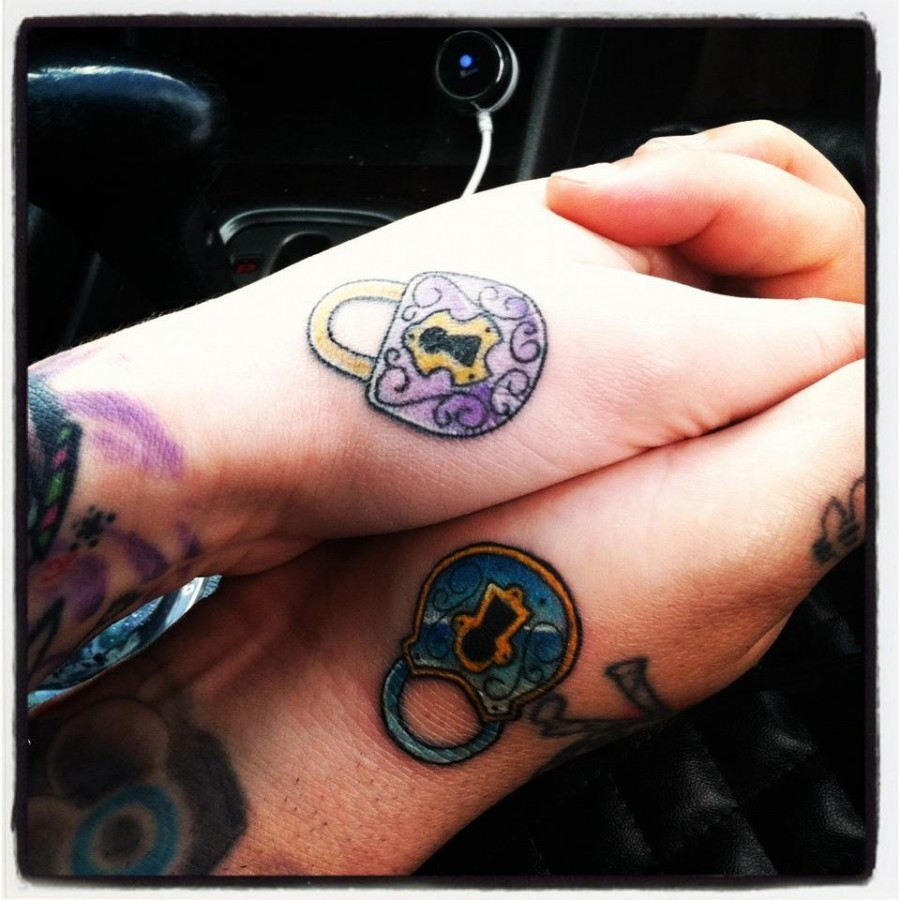 Locks Cool Matching Tattoos For Couples