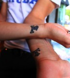 Cute Matching Tattoos for Couple in Love