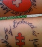25 Adorable Matching Tattoos For Lovers Slodive