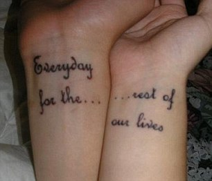 Embarrassing Matching Tattoos That Brand Couples Fanbox