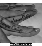 Splendid Matching Finger Tattoo Inspiration For Couples