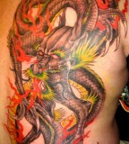 Full Colored Dragon Tattoos Art