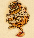 Flash Golden Dragon Tattoo Art