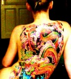 Full Women's Back Japanese Dragon Tattoo Designs