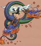 Colored Japanese Dragon Tattoo Type