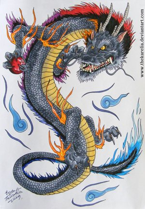 Impressive Dragon Tattoo Design Style