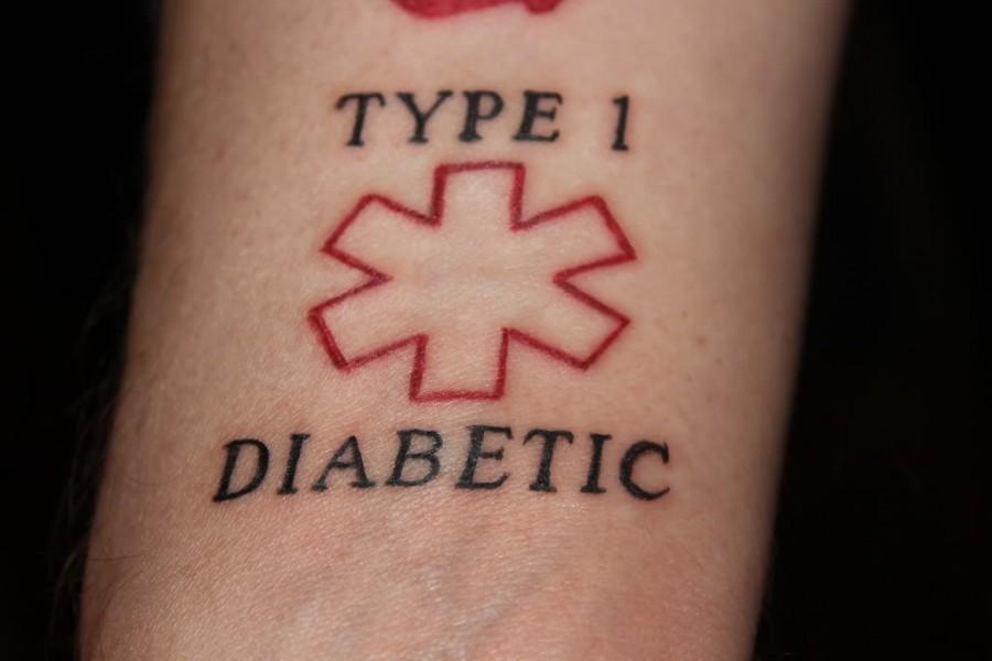 Type 1 My Diabetes Tattoo Alert