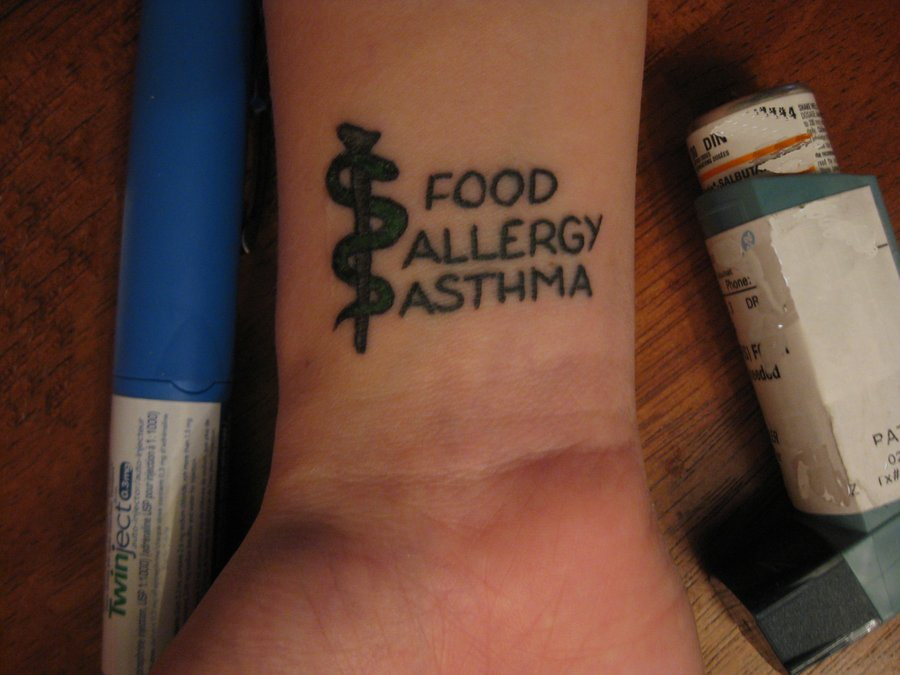 Medic Alert Tattoo Food Allergy Asthma