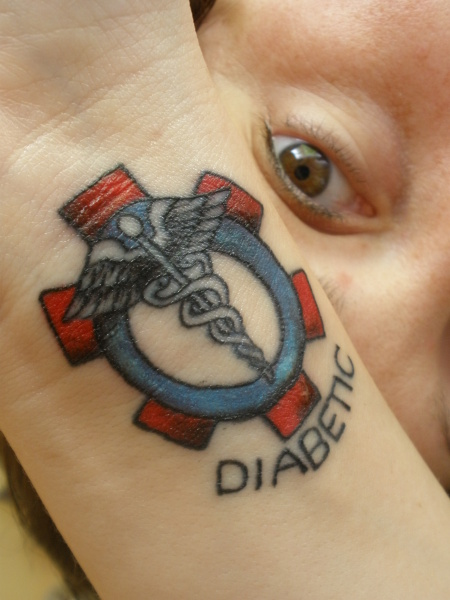 Colorful Medic Alert Tattoo Design PIctures Gallery