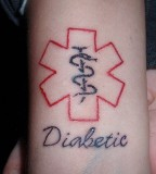 My Niece Got A Medic Alert Tattoo Today