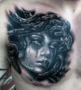 medusa chest tattoos for men